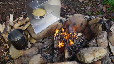 reflector oven in action