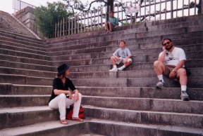 Rest on steps