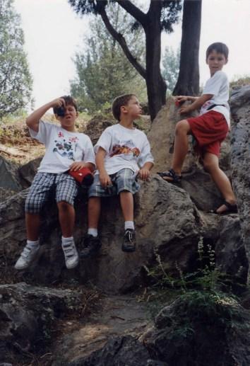 Rock climbing at Summer Palace
