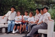 Triplets with Chinese friends
