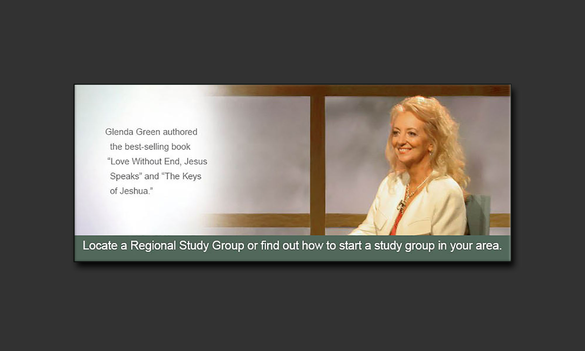 Glenda Green Portrait with message