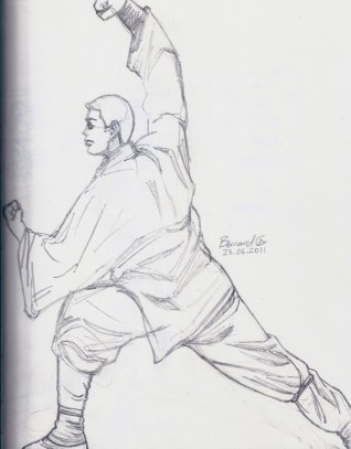 shaolin, monks, kung fu, sketching, figure, drawing, stance, practice,