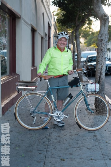 Hugh and his Rivendell Hillbourne bicycle.