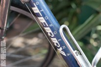1990s Georgena Terry women's-specific bicycle. Down tube and decal detail.