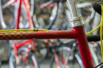 Colnago top tube and stem detail.
