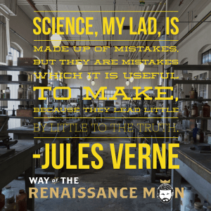why mistakes matter to a renaissance man starring jim woods jules verne quote