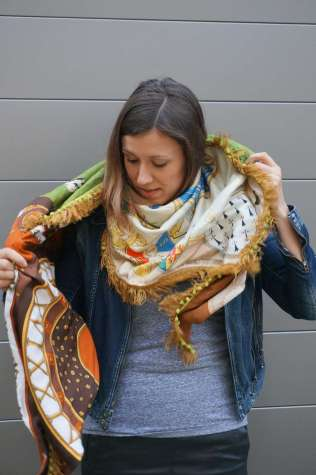 Wayome Upcycling Foulard en soie vintage 2