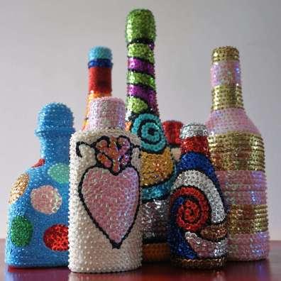 Wayome Upcycling bouteilles vaudou groupe