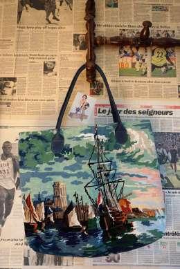 Wayome Upcycling cabas canevas portrait verso