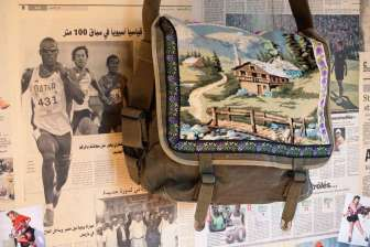 Wayome Upcycling cabas militaire vue droite