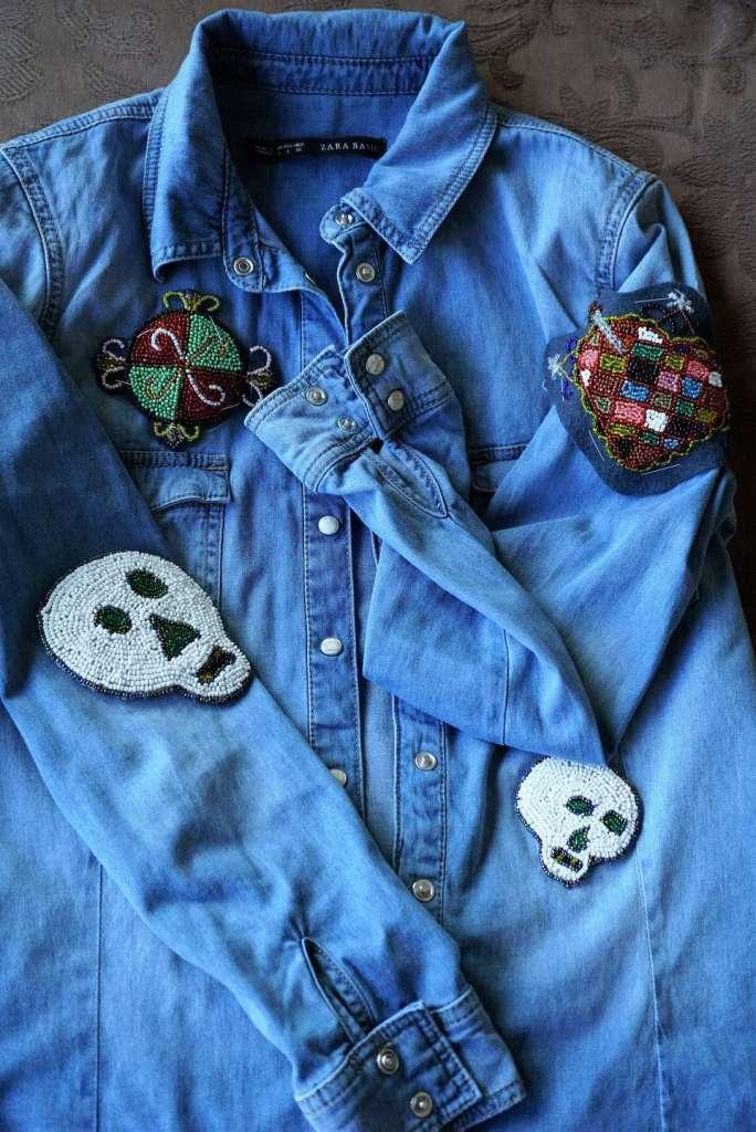 customiser une chemise en jean - chemise totale