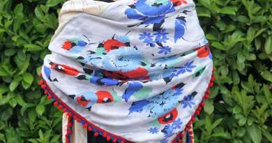 Wayome Upcycling foulard bleu blanc rouge image une