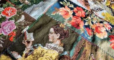 Wayome Upcycling tapis réalisé avec des canevas image une