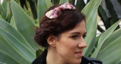 wayome upcycling le noeud papillon comme accessoire pour les cheveux image une
