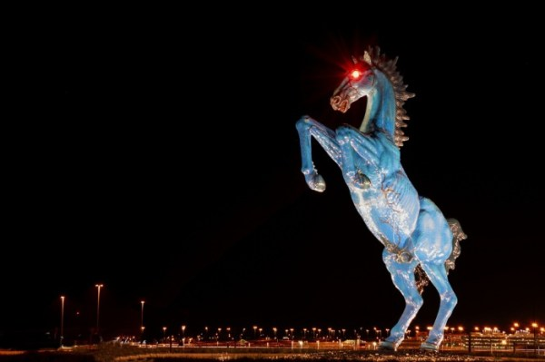 Blue Mustang in the Denver airport.