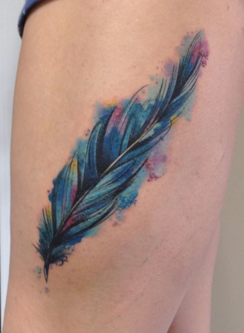 Feather tattoo16