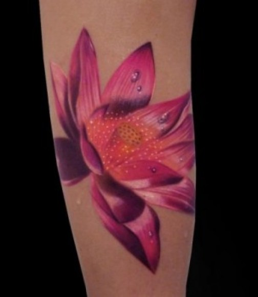Lotus Flower Tattoo 11