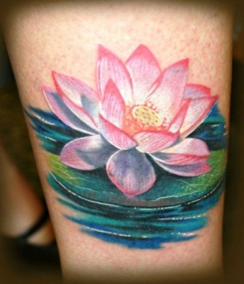 Lotus Flower Tattoo 13