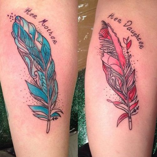 Mother daughter tattoo10