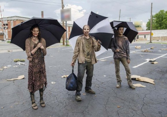 Walkers - The Walking Dead _ Season 5, Episode 5 _ BTS - Photo Credit: Gene Page/AMC
