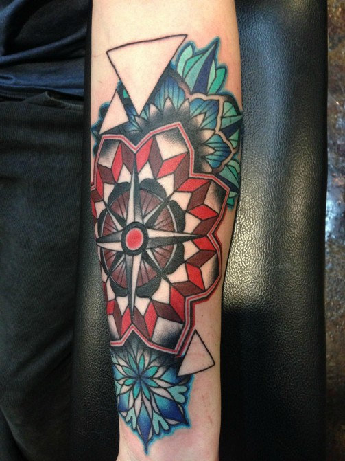 compass tattoo11