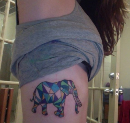 elephant tattoo 11