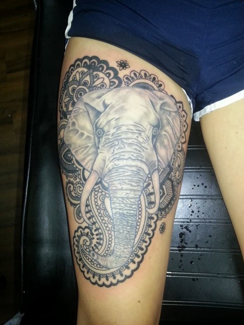 elephant tattoo 8