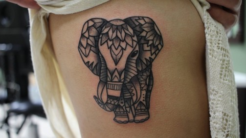 elephant tattoo 9