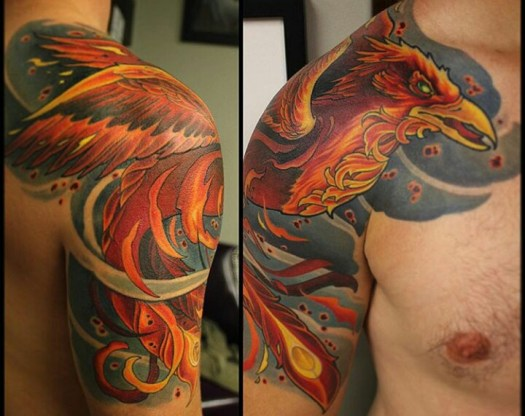 phoenix tattoo design for men