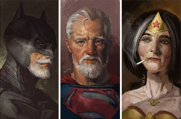 old-superhero-paintings 1