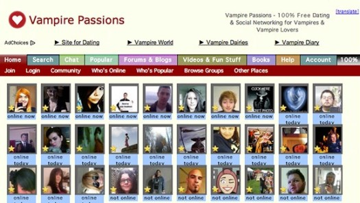 Vampire Dating-Website