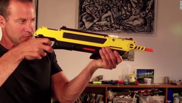 A plastic gun that allows you to shoot unwanted bugs with salt.