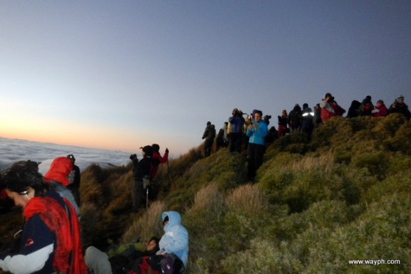 Patiently Waiting for Sunrise at the Summit