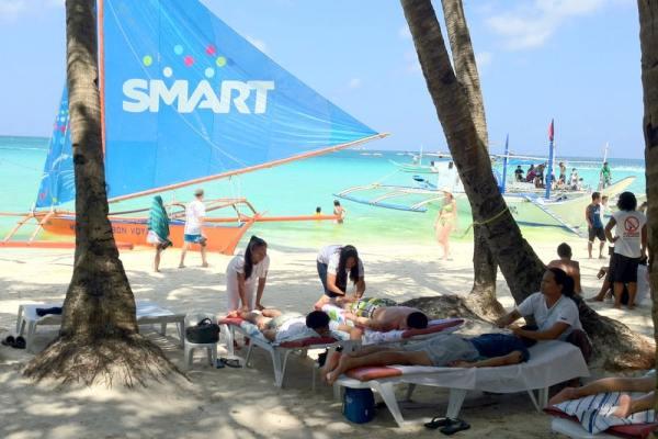 Spa Massage at the Beach