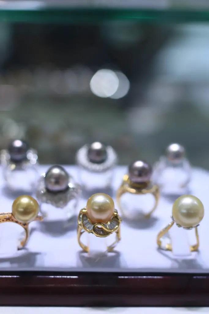 More beautiful pearl rings  at Golden Crown Jewelers