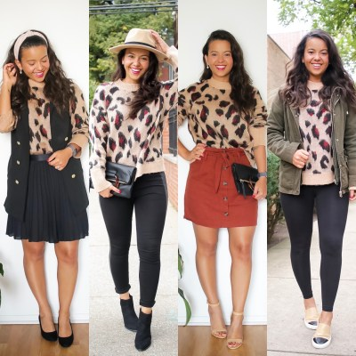1 leopard print sweater – 4 different occasions