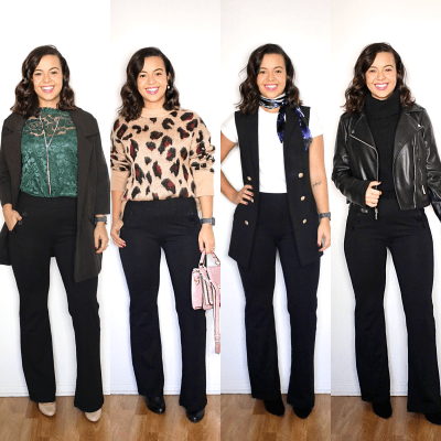 4 super cute office looks with black pants