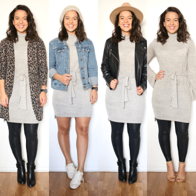 How to wear a sweater dress – Sharing 16 different looks.