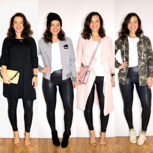 What to wear with leather leggings for Spring