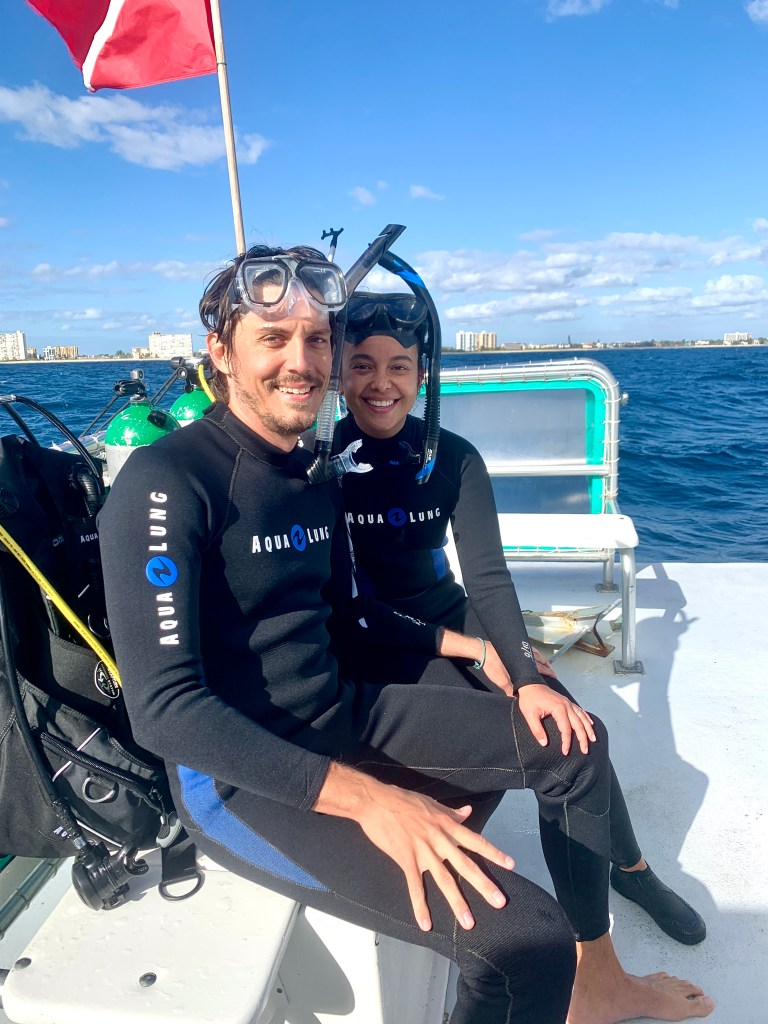 Our first time scuba diving together!