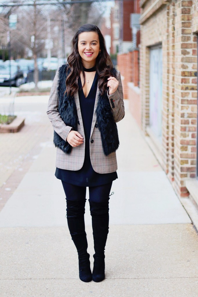 How to Style a Black Dress for Winter
