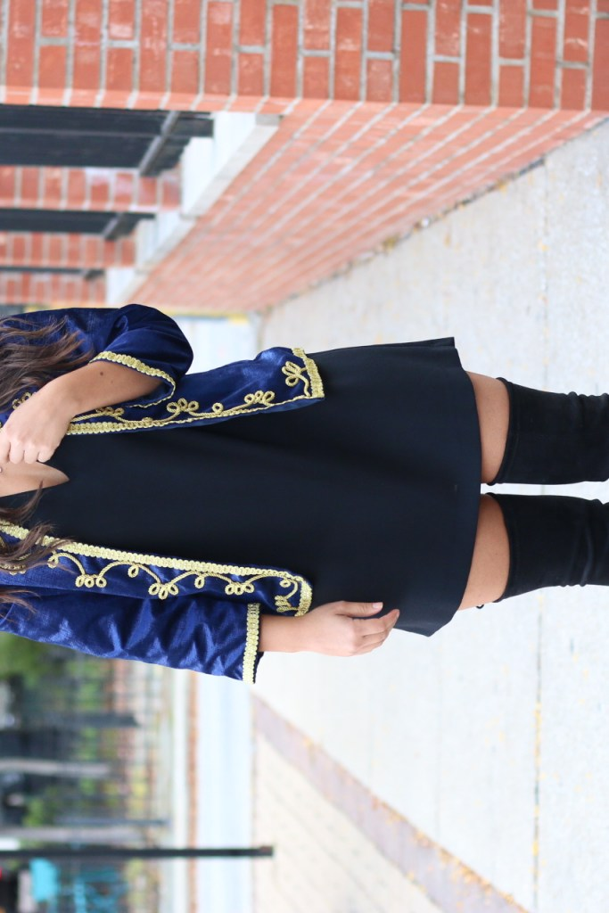 How to Style a Black Dress with OTK boots