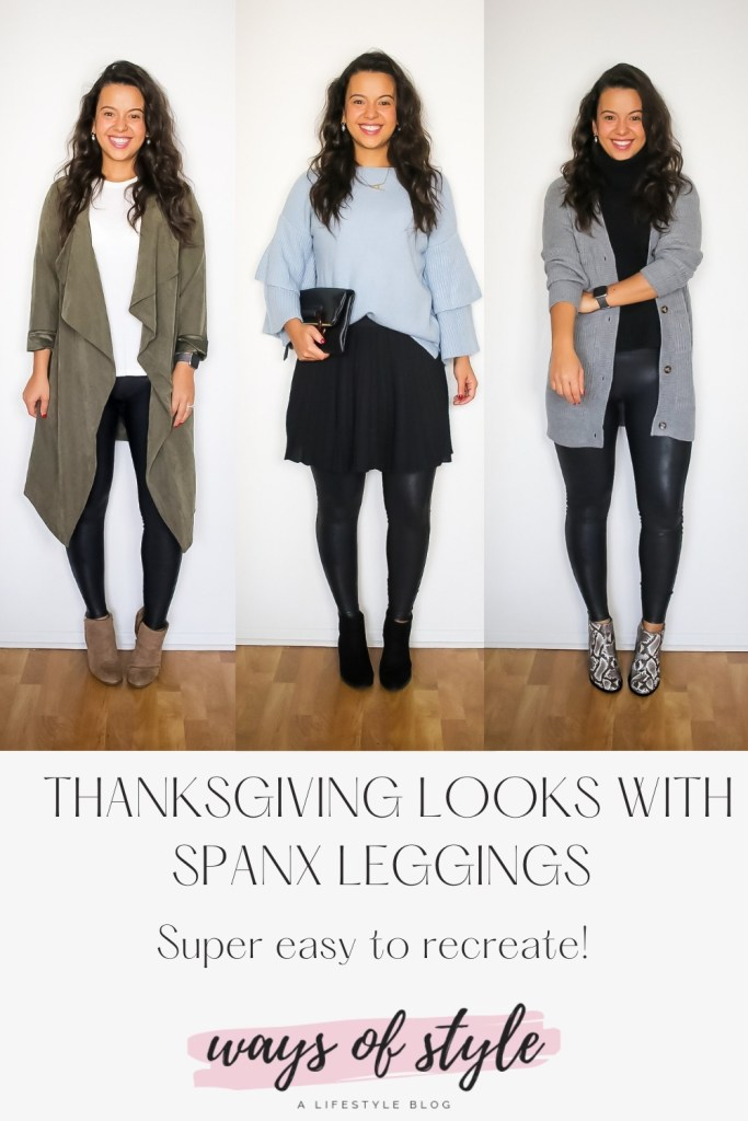 How to style leather leggings for Thanksgiving