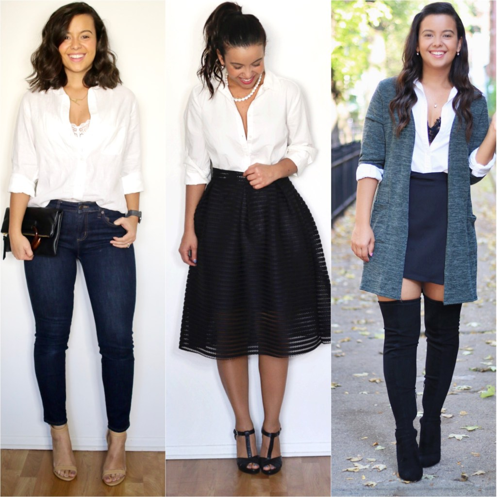 How to dress up a white shirt