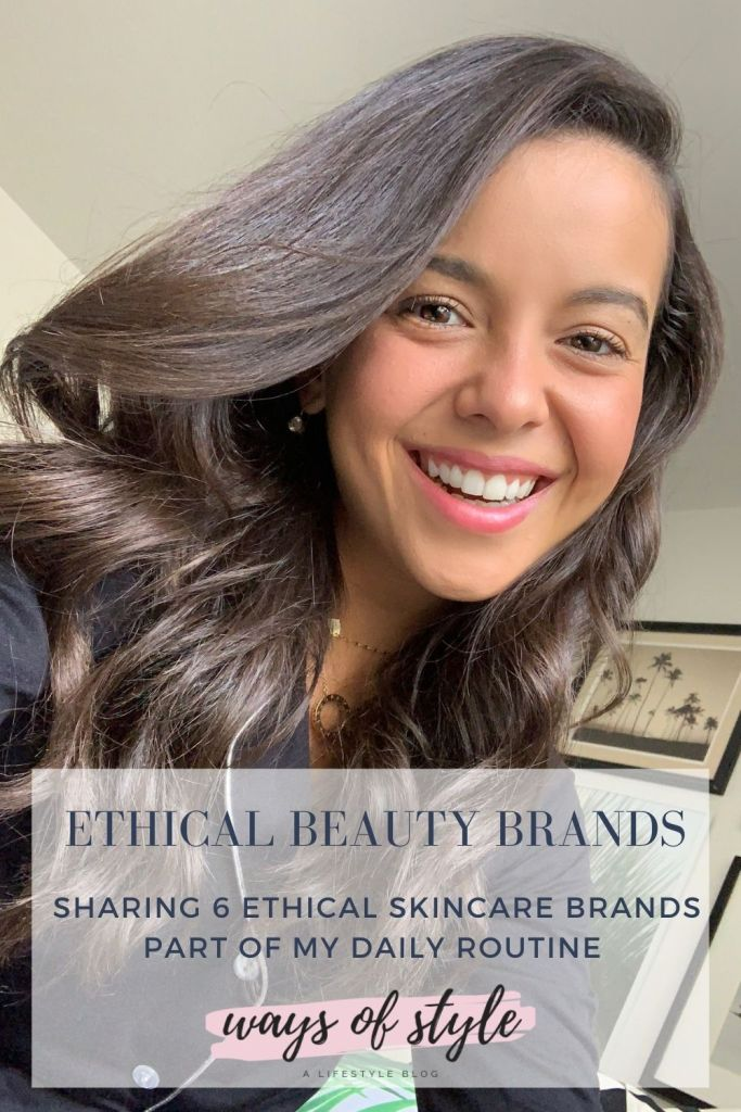 Ethical skincare brands Pinterest Pin