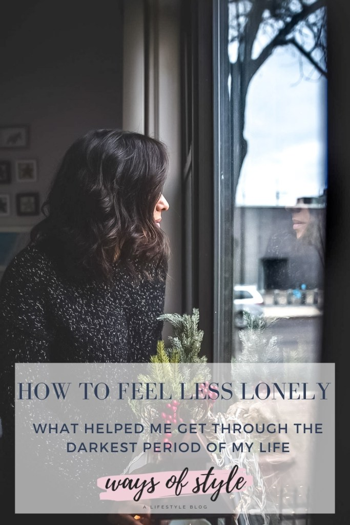 How to feel less lonely during the Holidays Pinterest Pin
