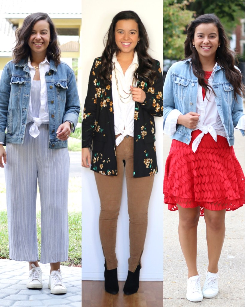 Styling a white shirt with a front tie - Summer outfit inspiration