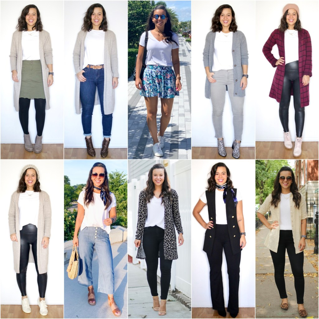 Styling a white t-shirt for every season