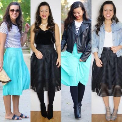 4 midi skirt outfits for all seasons