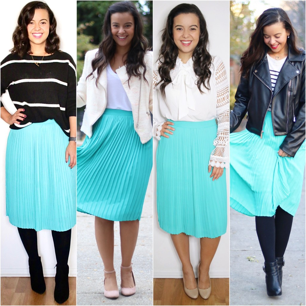how to wear a midi skirt for the office